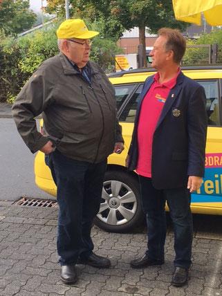 Unser Wahlstand in Freudenberg am 16. September 2017