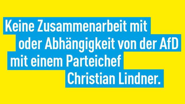 """""""Keine Zusammenarbeit mit AFD, aber eben auch kein Steigbügelhalter der Linkspartei"""" Die Freien Demokraten in Siegen – Wittgenstein plädieren für Neuwahlen in Thüringen."""