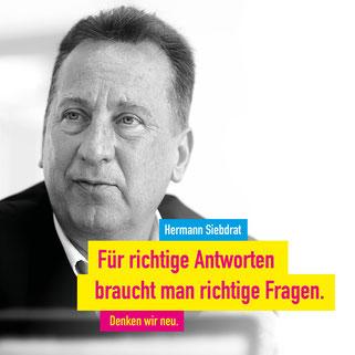 Unser Kandidat für den Kreis Siegen – Wittgenstein Prof. Dr. Hermann Siebdrat