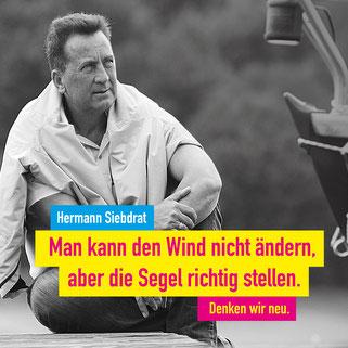Unser Kandidat Prof. Dr. Hermann Siebdrat 15. September 2017