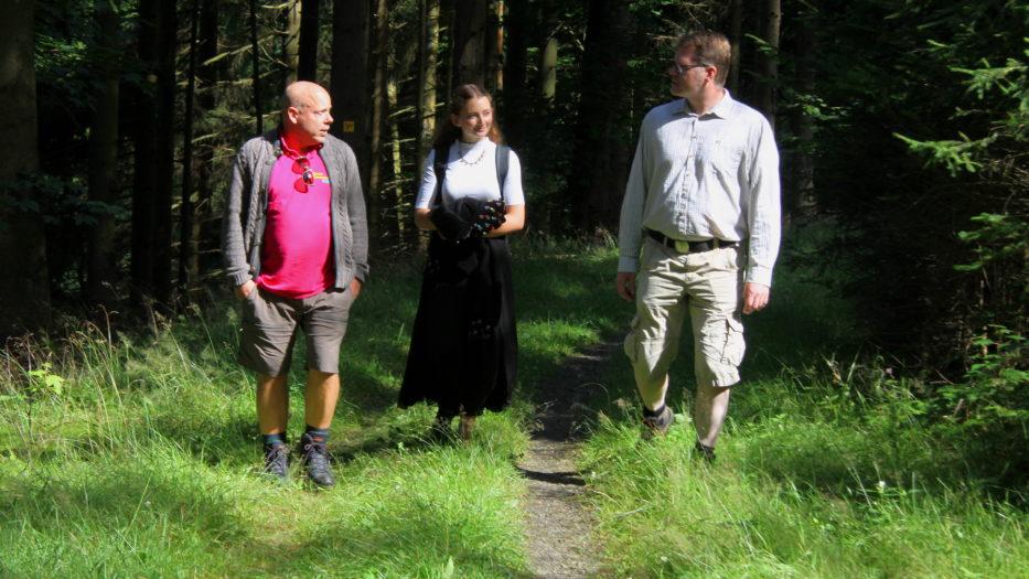 Müller wandert durch den Wahlkampf