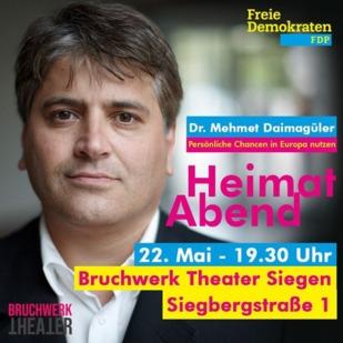 EINLADUNG zum Heimatabend mit Dr. Mehmet Daimagüler