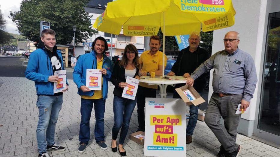 Wahlkampfstand in EKZ Netphen