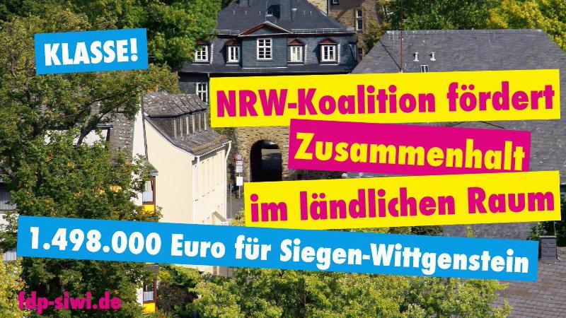 Siegen-Wittgenstein: NRW-Koalition fördert den Zusammenhalt im ländlichen Raum