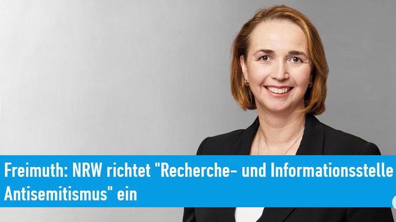 """NRW richtet """"Recherche- und Informationsstelle Antisemitismus"""" ein"""