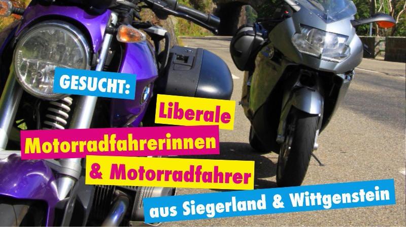 Liebe Motorrad-Fahrerinnen & -Fahrer