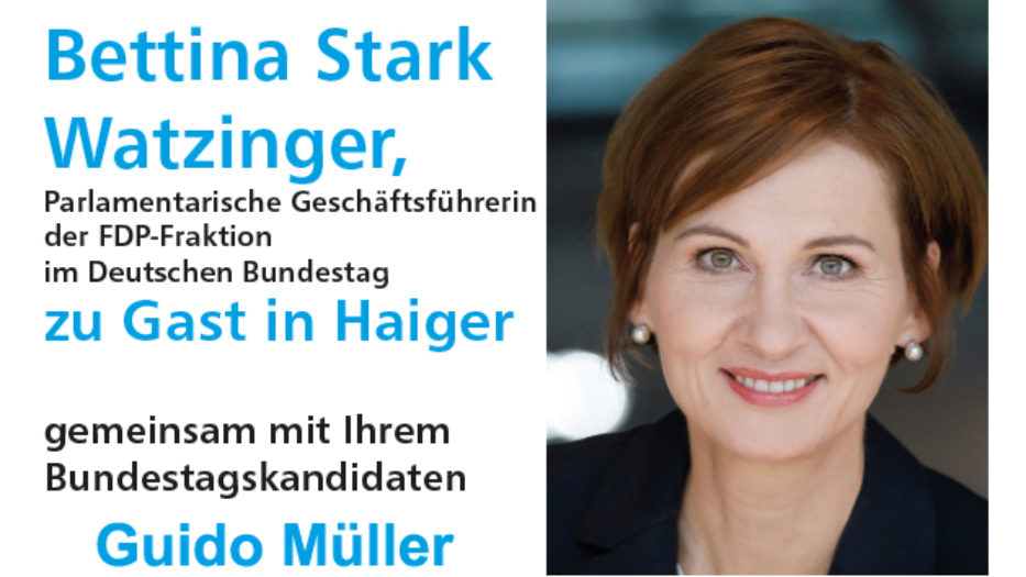 Ge(h)spräche – Einladung zur FDP-Wandertour mit Bettina Stark Watzinger MdB